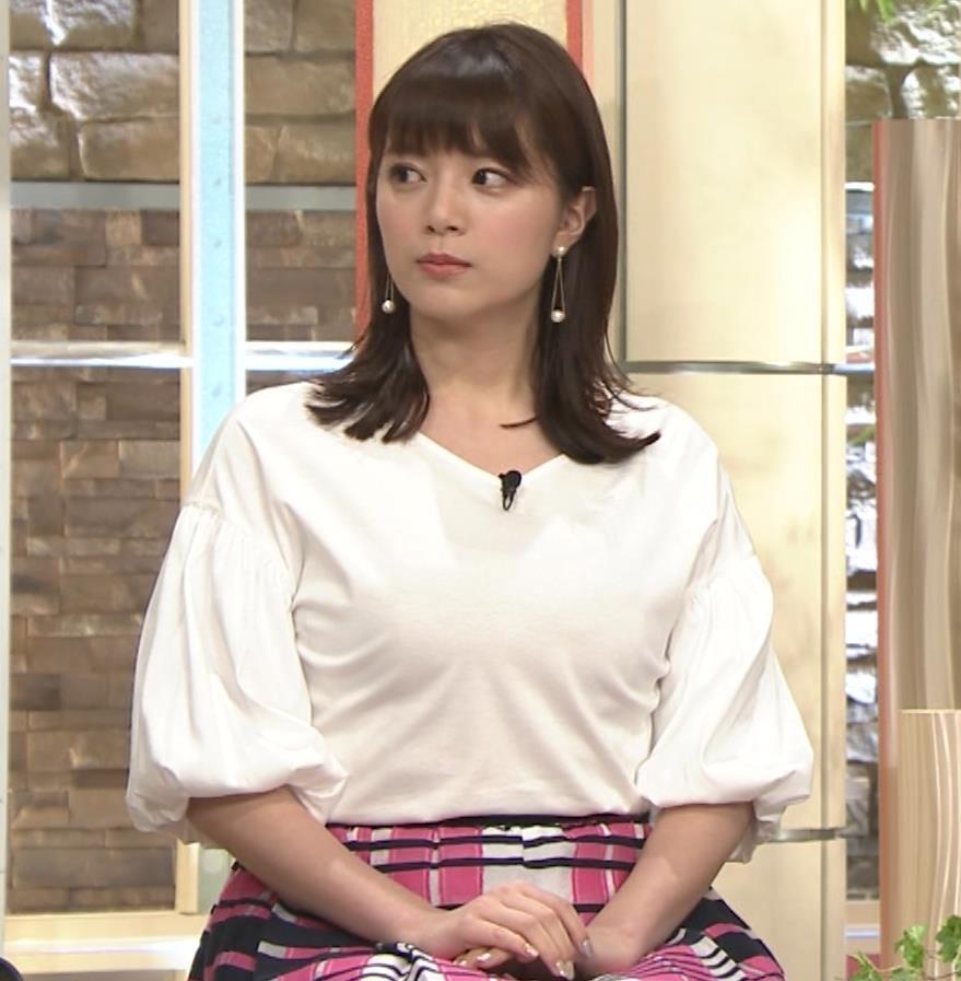三谷紬アナ 乳がデカくて服がパツパツキャプ・エロ画像3