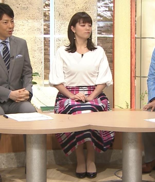 三谷紬アナ 乳がデカくて服がパツパツキャプ・エロ画像5