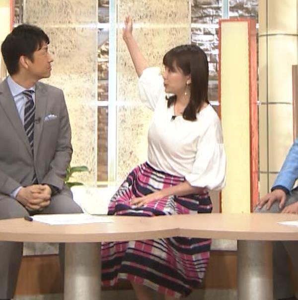 三谷紬アナ 乳がデカくて服がパツパツキャプ・エロ画像6