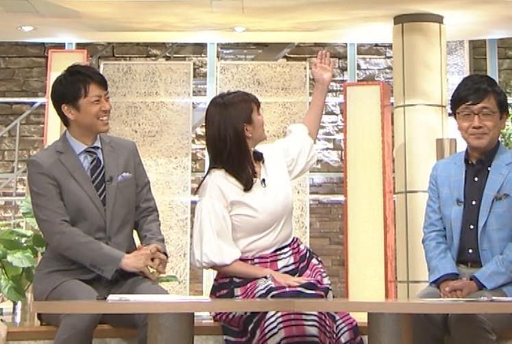 三谷紬アナ 乳がデカくて服がパツパツキャプ・エロ画像8