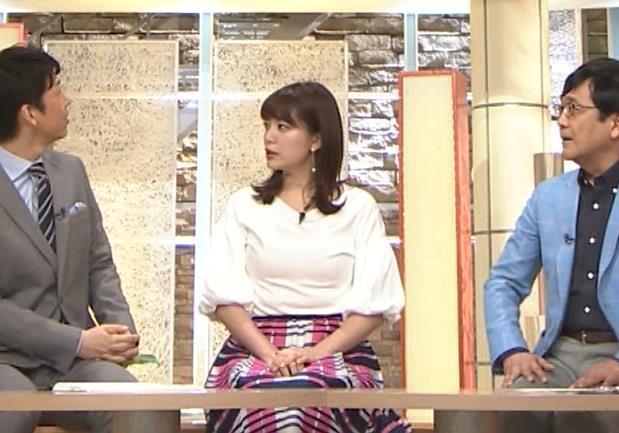 三谷紬アナ 乳がデカくて服がパツパツキャプ・エロ画像9