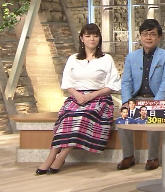 三谷紬アナ 乳がデカくて服がパツパツキャプ・エロ画像10