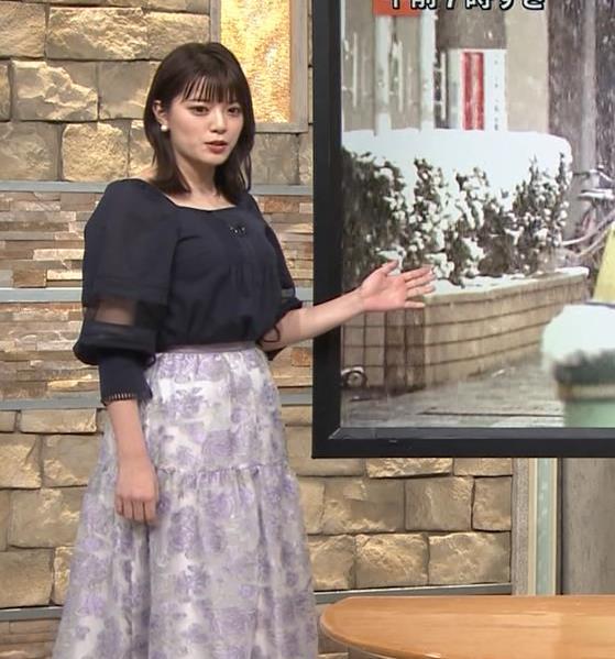 三谷紬アナ 横から見るとやっぱりでけぇキャプ・エロ画像