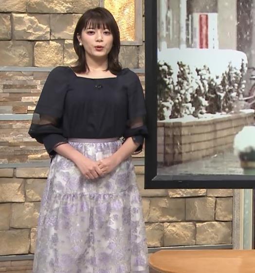 三谷紬アナ 横から見るとやっぱりでけぇキャプ・エロ画像2