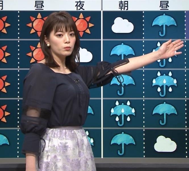三谷紬アナ 横から見るとやっぱりでけぇキャプ・エロ画像3