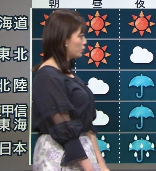 三谷紬アナ 横から見るとやっぱりでけぇキャプ画像(エロ・アイコラ画像)