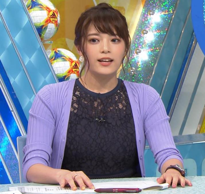 三谷紬アナ 乳隠しても十分かわいて魅力的キャプ・エロ画像3