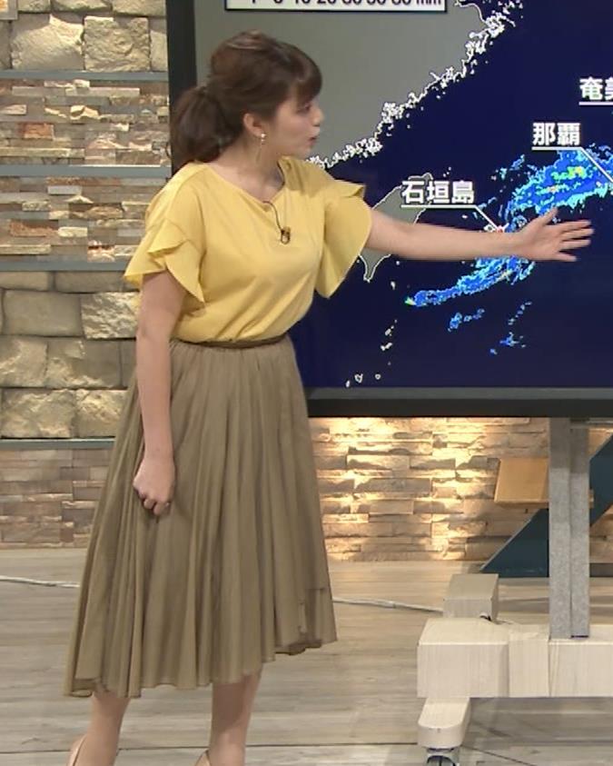 三谷紬アナ 昨日の巨乳(報ステ 6・15)キャプ・エロ画像2
