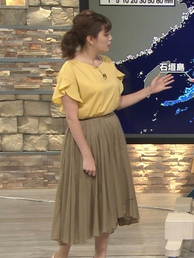 三谷紬アナ 昨日の巨乳(報ステ 6・15)キャプ・エロ画像3