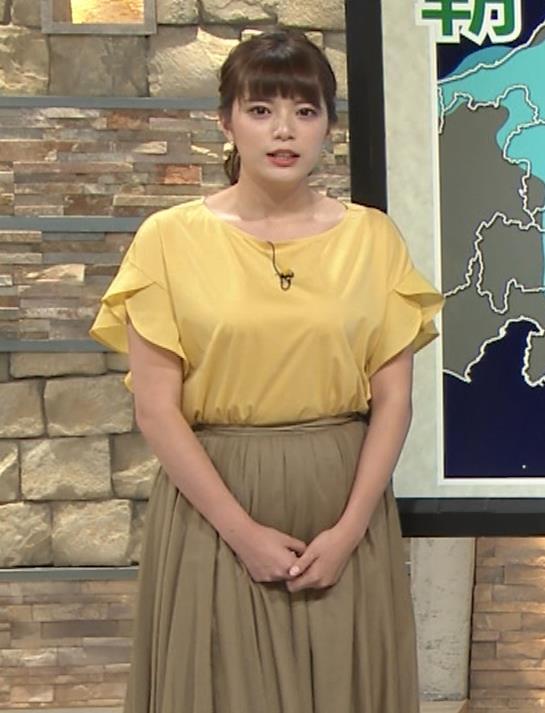 三谷紬アナ 昨日の巨乳(報ステ 6・15)キャプ・エロ画像9