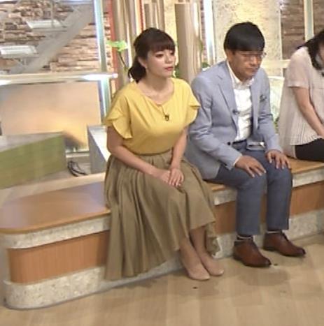 三谷紬アナ 昨日の巨乳(報ステ 6・15)キャプ・エロ画像10