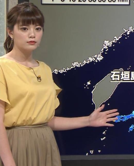 三谷紬 昨日の巨乳(報ステ 6・15)キャプ画像(エロ・アイコラ画像)