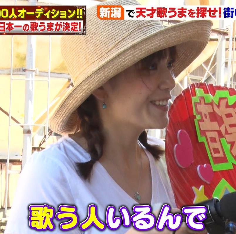 三谷紬アナ 爆乳アナのエロエロTシャツ姿キャプ・エロ画像5
