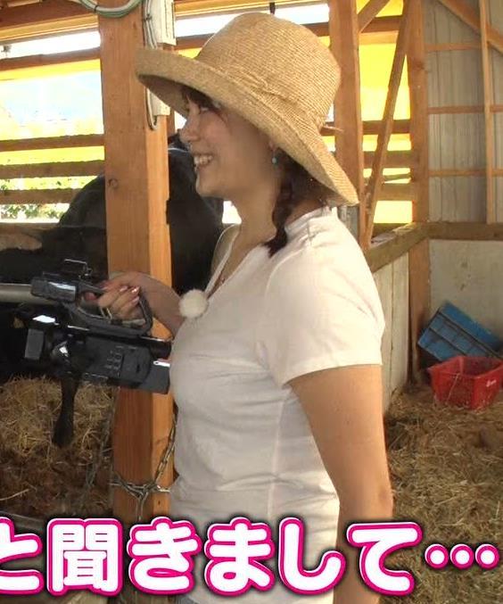三谷紬アナ 爆乳アナのエロエロTシャツ姿キャプ・エロ画像6