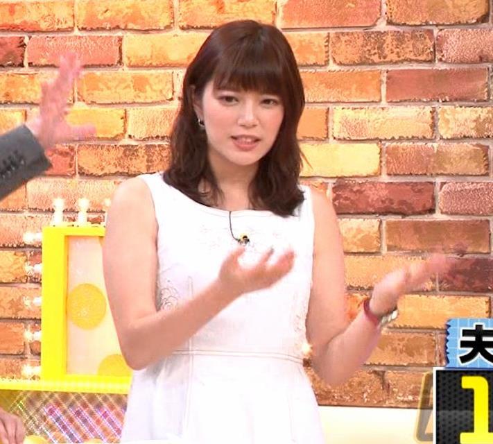 三谷紬アナ ムチムチなノースリーブ二の腕キャプ・エロ画像6