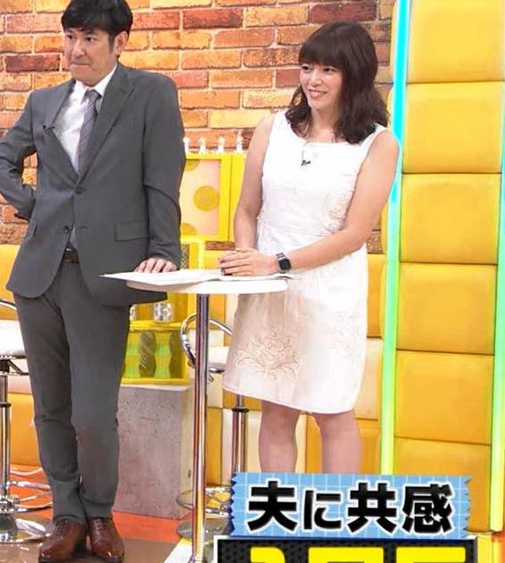 三谷紬アナ ムチムチなノースリーブ二の腕キャプ・エロ画像8