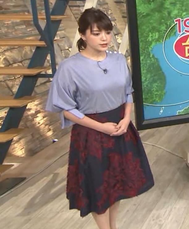 三谷紬アナ どうしても巨乳が目立ってしまうキャプ・エロ画像