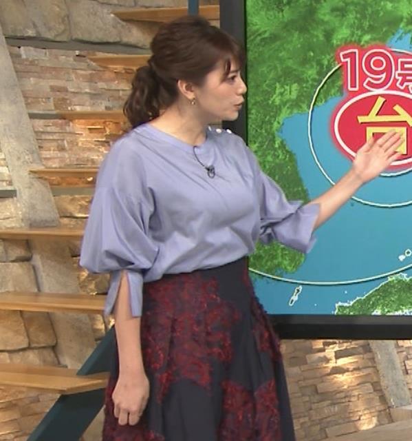 三谷紬アナ どうしても巨乳が目立ってしまうキャプ・エロ画像6