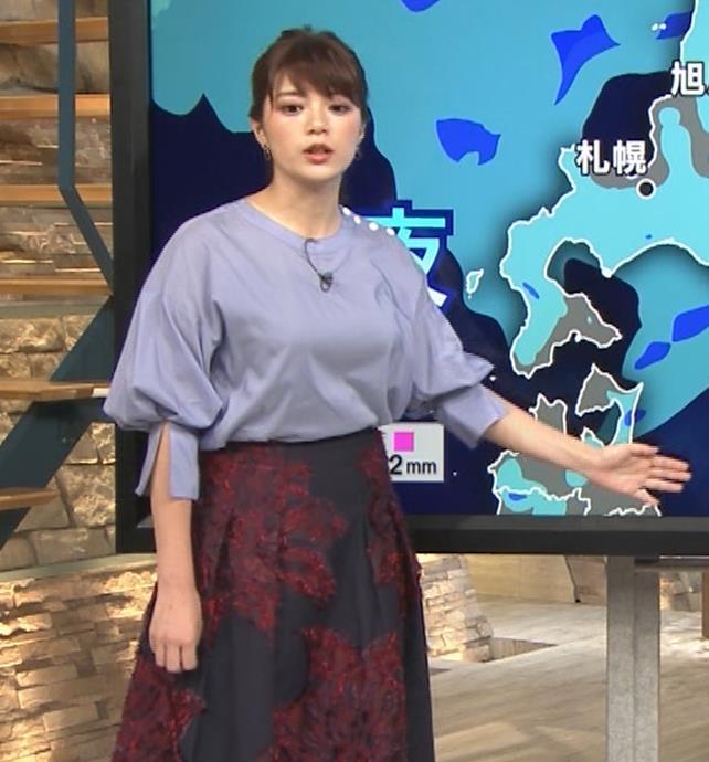 三谷紬アナ どうしても巨乳が目立ってしまうキャプ・エロ画像7