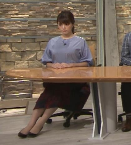 三谷紬アナ どうしても巨乳が目立ってしまうキャプ・エロ画像9