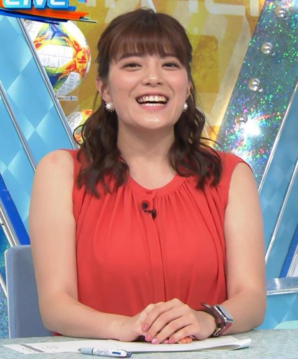 三谷紬アナ ムチムチ、ノースリーブキャプ・エロ画像5