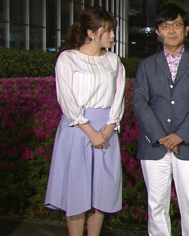 三谷紬アナ テレ朝一の巨乳アナキャプ・エロ画像