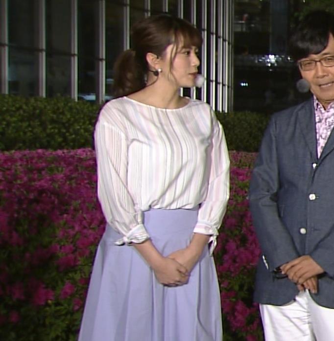三谷紬アナ テレ朝一の巨乳アナキャプ・エロ画像6