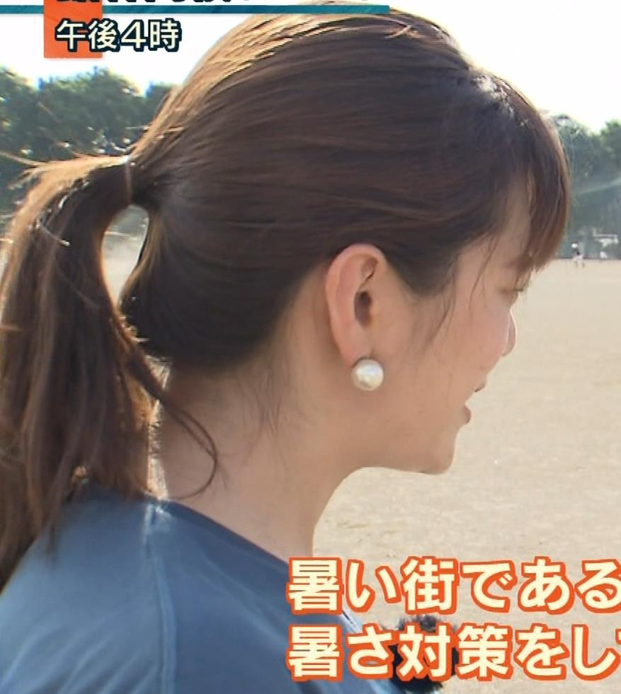 三谷紬アナ 脚のラインがでたピチピチのパンツスタイルキャプ・エロ画像9