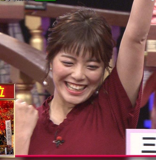 三谷紬アナ すげぇ横乳キャプ・エロ画像2