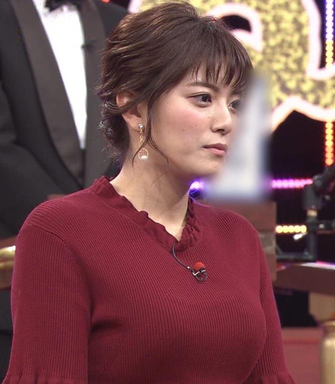 三谷紬アナ すげぇ横乳キャプ・エロ画像11