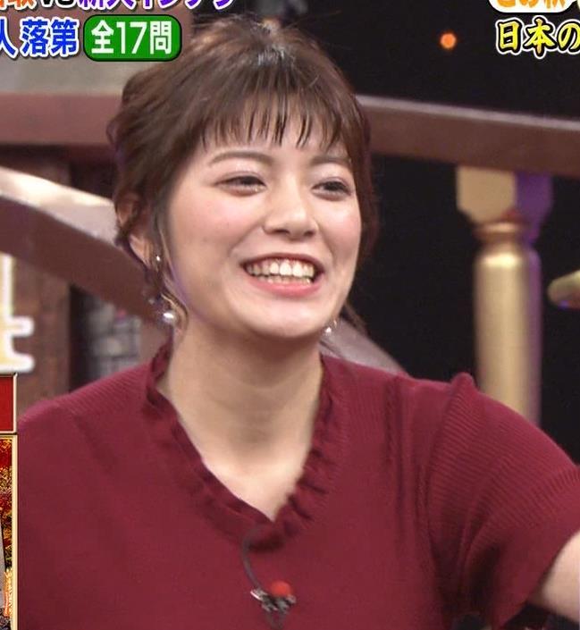 三谷紬アナ すげぇ横乳キャプ・エロ画像3