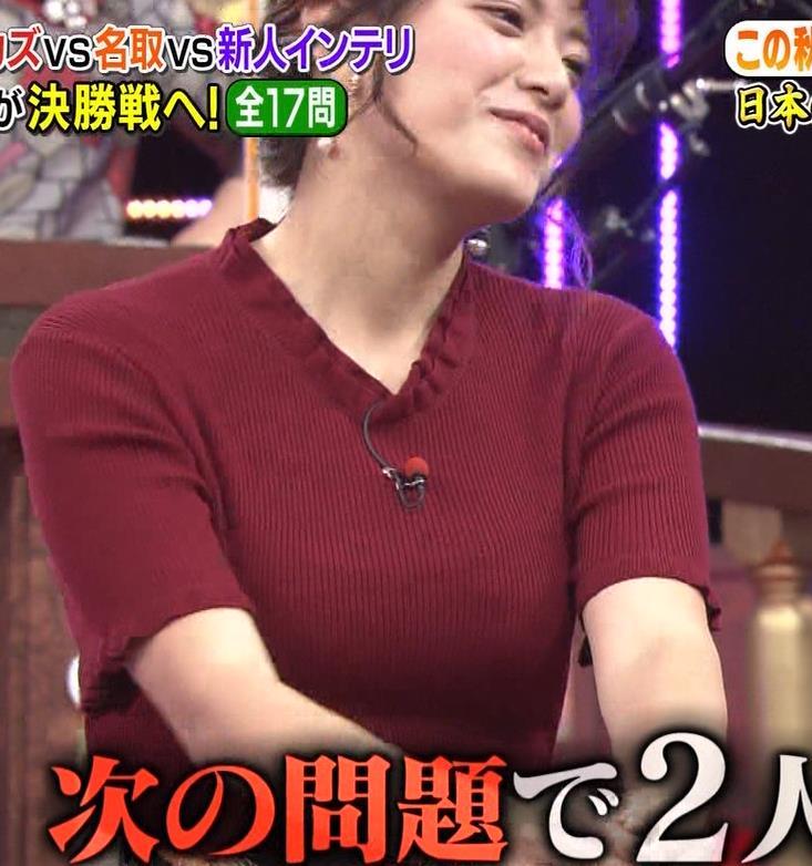 三谷紬アナ すげぇ横乳キャプ・エロ画像10