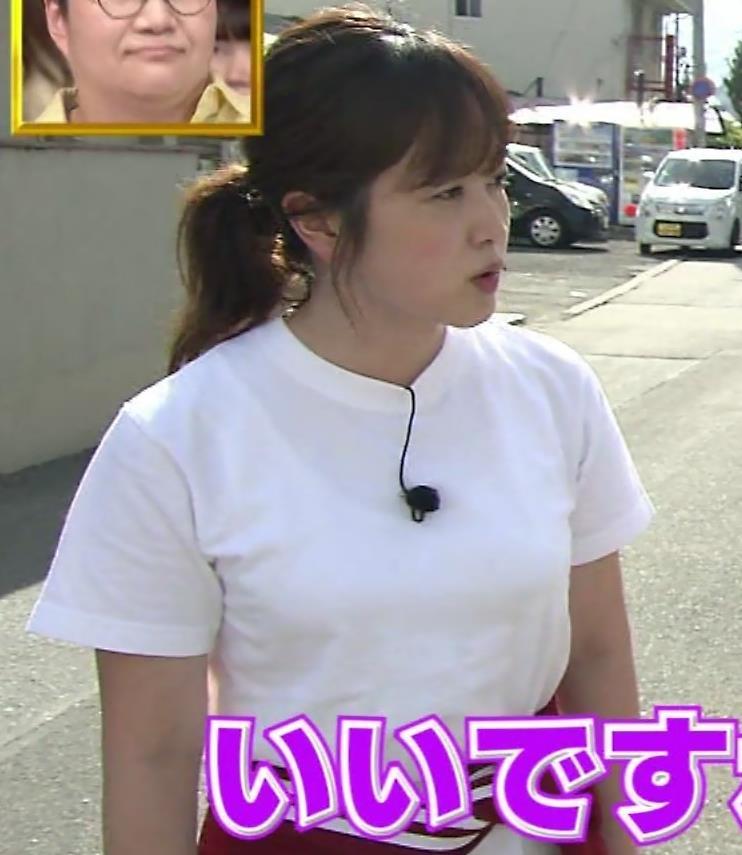 水卜麻美アナ Tシャツ横乳キャプ・エロ画像2