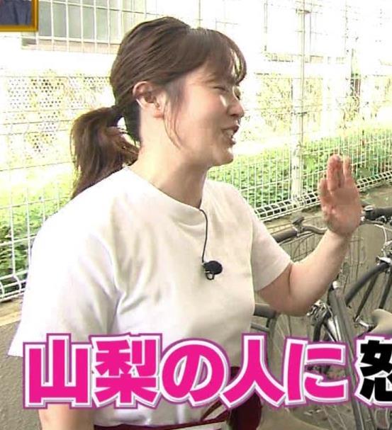 水卜麻美アナ Tシャツ横乳キャプ・エロ画像4