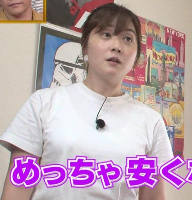 水卜麻美アナ Tシャツ横乳キャプ・エロ画像8