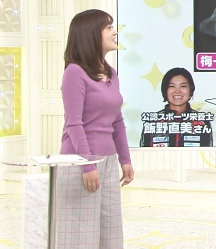 水卜麻美アナ スッキリ!でおっぱいが大変なことになっていた!!キャプ・エロ画像4