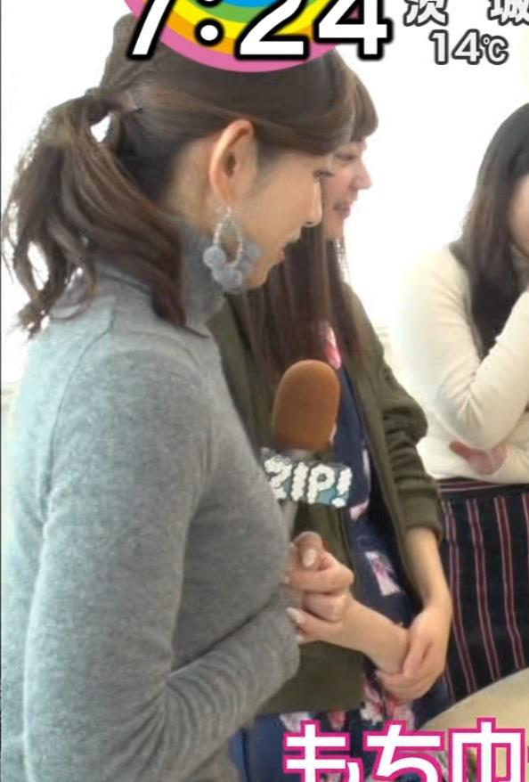 宮崎瑠依 クッキリ!ニット横乳。キャプ・エロ画像