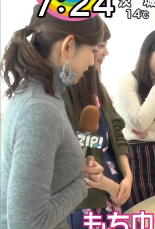 宮崎瑠依 クッキリ!ニット横乳。キャプ画像(エロ・アイコラ画像)