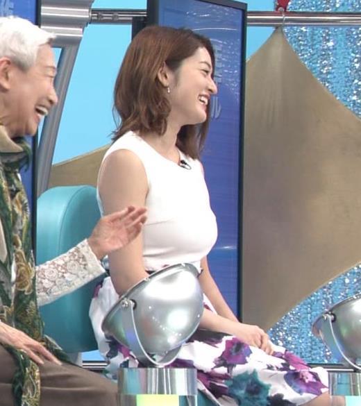 宮沢セイラ 巨乳がパツパツのノースリーブキャプ画像(エロ・アイコラ画像)