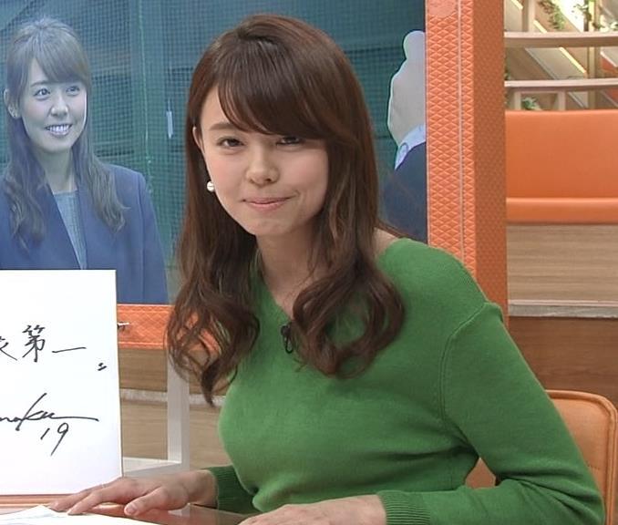 宮澤智アナ 細身なのに乳がデカくてエロいキャプ・エロ画像9