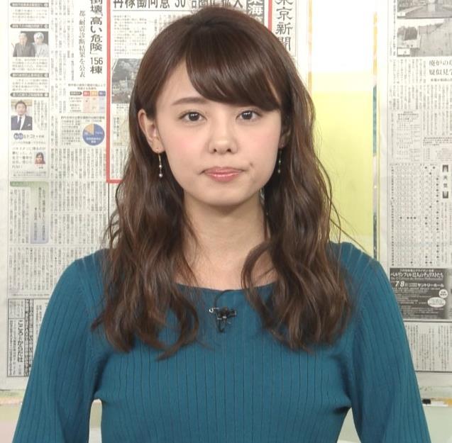 宮澤智アナ エロかわいいニット乳♡キャプ・エロ画像3