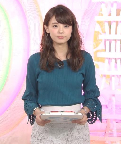 宮澤智アナ エロかわいいニット乳♡キャプ・エロ画像4