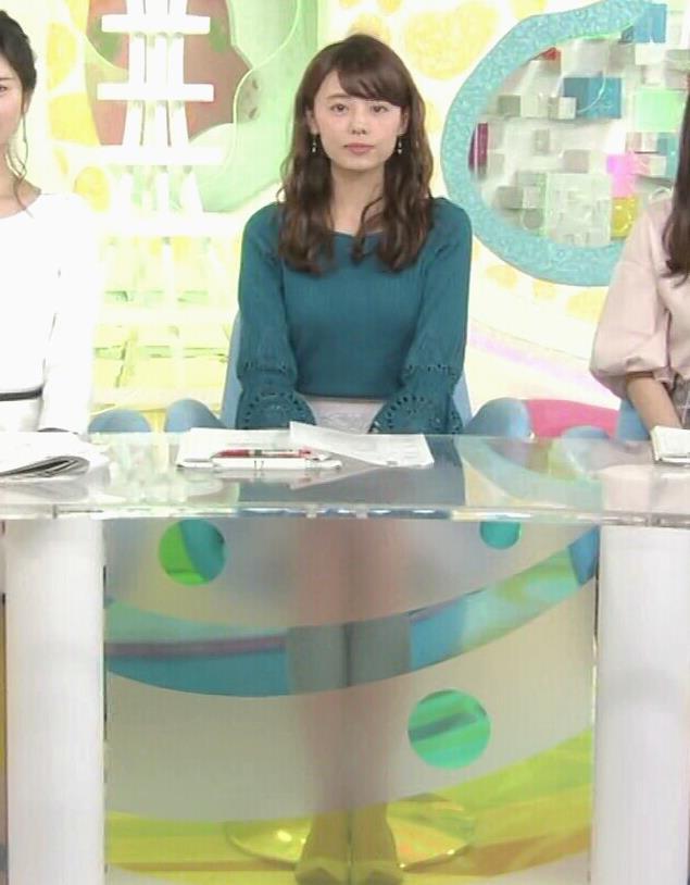 宮澤智アナ エロかわいいニット乳♡キャプ・エロ画像7