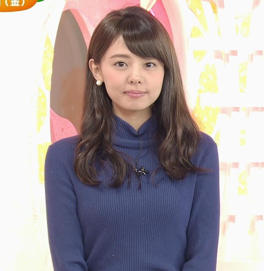 宮澤智アナ ふっくらニット乳がエロかったキャプ・エロ画像2