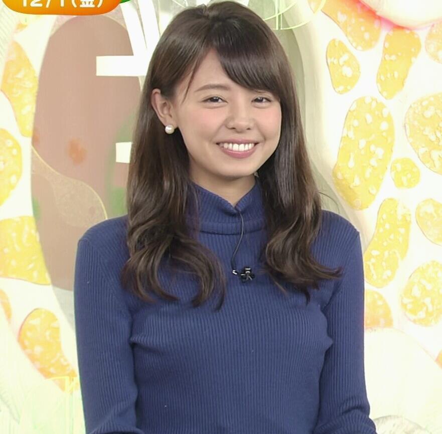 宮澤智アナ ふっくらニット乳がエロかったキャプ・エロ画像4