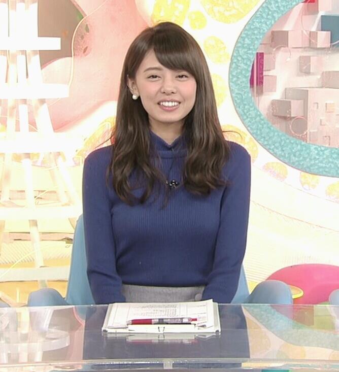宮澤智アナ ふっくらニット乳がエロかったキャプ・エロ画像5