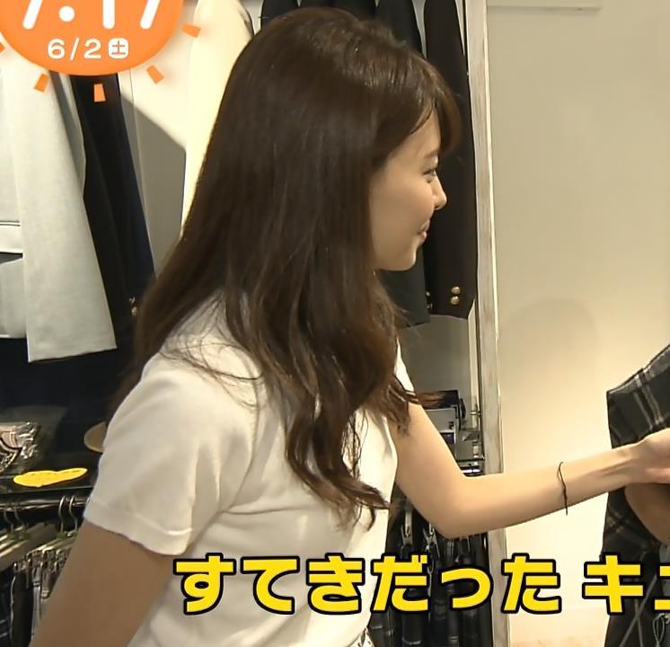 宮澤智アナ Tシャツ横乳がエロいキャプ・エロ画像
