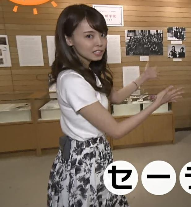 宮澤智アナ Tシャツ横乳がエロいキャプ・エロ画像6