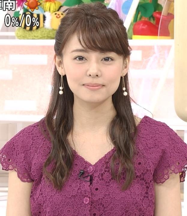 宮澤智アナ Tシャツ横乳がエロいキャプ・エロ画像9