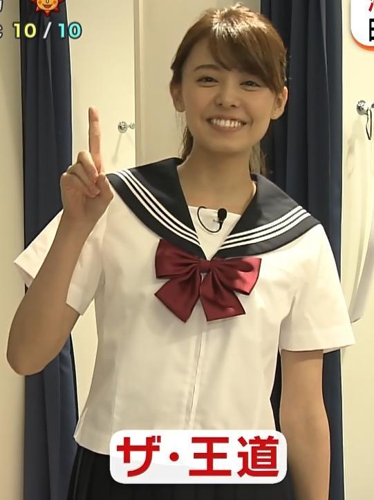 宮澤智アナ 可愛すぎセーラー服コスプレキャプ・エロ画像11